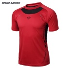 Lucky Sailing Men's Short-sleeved T-shirt - Red (L)