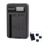 RUITAI EN-EL9 LED Panel Battery Charger for Nikon D3X / D40 / D60 / D40x / D5000 - Black