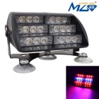 MZ Universal 30W 900lm 18-LED Car Flashing Warning Light Red +Blue Light (12V)
