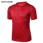 Lucky Sailing LS07 Men's Short Sleeved T-shirt - Red (L)
