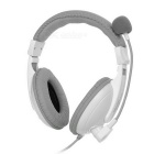 SENICC ST-2688 3.5mm Wired Headband Headset w/ Mic. for Tablet PC / Copmputer - White + Grey