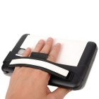 Toothpick Grain Protective Case for Samsung Tab 3 Lite - White + Black
