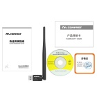 COMFAST CF-WU756P USB Network Card Through-Wall Wi-Fi Receiver - Black