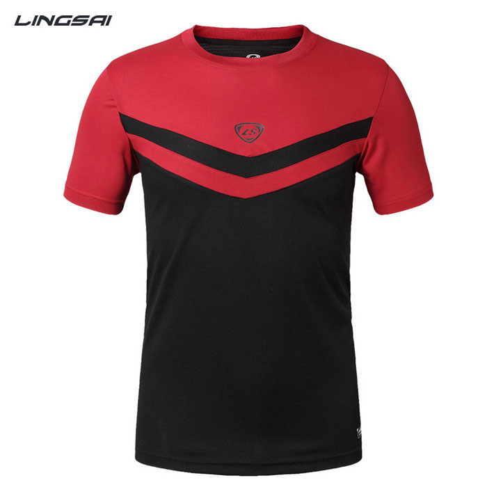 Ling Sai LS08 Men's Short-Sleeved T-Shirt - Black (XXL)