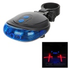 Bicycle Bike 9-Mode 5-LED Blue Light Tail Warning Safety Light - Deep Blue + Black (2 x AAA)