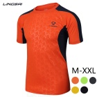 Ling Sai Men's Short-sleeved T-shirt - Orange (XXXL)