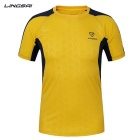 Ling Sai Men's Short-sleeved T-shirt - Yellow (XXXL)