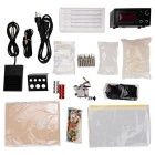 T01 Professional Tattoo Machine + Power Supply + Pedal + Needle + Accessories Bag Kit Set