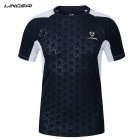 Ling Sai Men's Short-sleeved T-shirt - Dark Blue (XXXL)