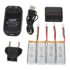 450mAh Battery + 1-to-4 Charger + TOL Adapter + More Set - Multicolor