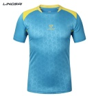 Lingsai Men's Short Sleeved T-shirt - Light Blue (XXXL)