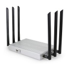 Dual Band 802.11ac 2.4G & amp; 5.8GHz 1200Mbps Wireless Wi-Fi-Router w / USB-Anschluss - Silver