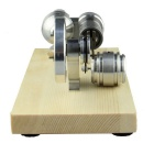 Hot Air Stirling Engine Micro-generator Engine Model Toy - Silver