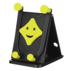 Cheshan N07 Smile Face Car Vehicle Foldable Phone Holder for IPHONE 6 PLUS + More - Black + Green