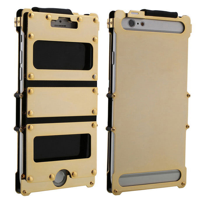 ARMOR KING Sport Full Body Case w/ 2 Windows for IPHONE 6 - Golden