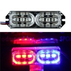 Merdia 2W 6-LED Red / Blue Light Refit Running Light / Taillight / Decorative Light for Car (12V)