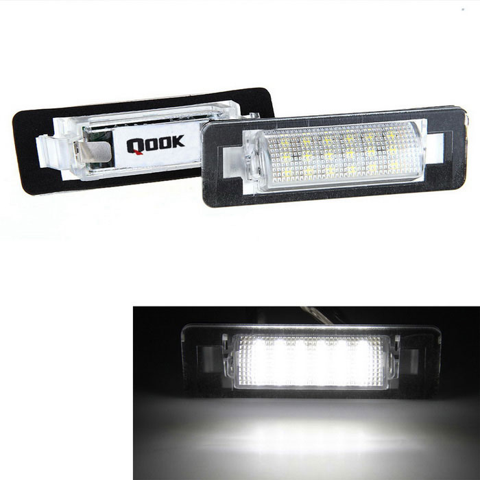 Qook 1.44W White LED License Plate Light for BENZ W210/W202 4D (2PCS)