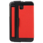 Toothpick Grain Protective Case for Samsung Tab 3 Lite - Red + Black