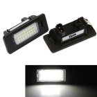 Qook 1.4W White 24-LED License Plate Light for BMW E82 / E90 (2PCS)