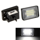 Qook 1.44W 18-LED License Plate Lights White 6000K 120lm 3528 SMD for BENZ GLK X204 / 350 (2PCS)