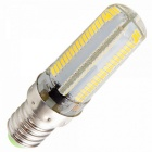Regulable E14 7W 152-SMD 3000K calientan el bulbo blanco del maíz de la luz LED (5PCS)
