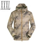 Men's Outdoor Warm Water-Resistant Breathable Windproof Jacket Coat - Camouflage (XXXL)