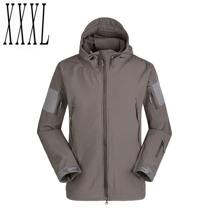 Men's Warm Breathable Windproof Jacket Coat - Grey (XXXL)