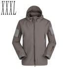Men's Outdoor Warm Water-Resistant Breathable Windproof Jacket Coat - Grey (XXXL)
