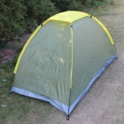 SingleLayerOutdoorCampingTentforonepersons-Зеленый+Желтый