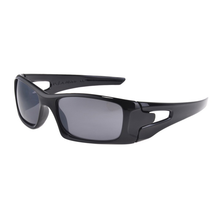 UV400 Protection PC Sports Cycling Driving Sunglasses - Black + Gray