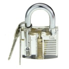 Slotted Practice Padlock w/ Double Heads Comb Style Lock Pick