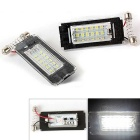 Qook 1.44W 18-LED License Plate Lamp White SMD for BMW Mini R56 (2PCS)