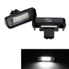 Qook 1.44W 18-LED License Plate Light White 6500K 120lm 3528 SMD for BENZ W220 S-class Canbus (2PCS)