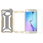 R-JUST Sport Protective Aluminum Alloy Case + Tempered Glass Film for Samsung Galaxy S6 Edge