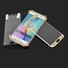 R-JUST Case + Tempered Glass Film for Samsung S6 Edge - Silver Grey
