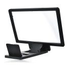 3D Screen Magnifier w/ Stand for IPHONE / Samsung + More - Black