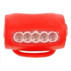 Bicycle Bike Cycling 7-LED 3-Mode Cool White Light Lamp - Red