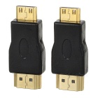 Portable HDMI to Mini HDMI Adapters - Black + Golden (2 PCS)