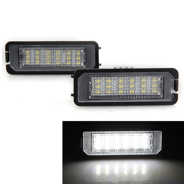 Qook 1.4W White 18-LED License Plate Light for VW Golf5 / Golf6 (2PCS)