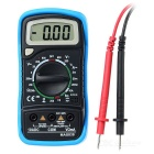 Bside Mas838 2000 Counts Small Handheld Digital Multimeter w/ Temperature + Back Case - Black + Blue