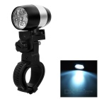 Wasserdicht 6-LED-2-Mode White Light Cycling Bike Light w / Halter - Schwarz + Weiß Silbrig