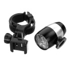 Waterproof 2-Mode White Light Cycling Bike Light w/ Holder - Black