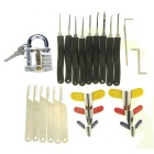 Slotted Practice Padlock + Padlock Shims + Advanced 9-Piece Set / Comb Style Lock Picks Set