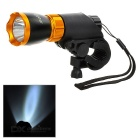 SOLDIER Handlebar Mounted White 3-Mode LED Bike Light - Orange