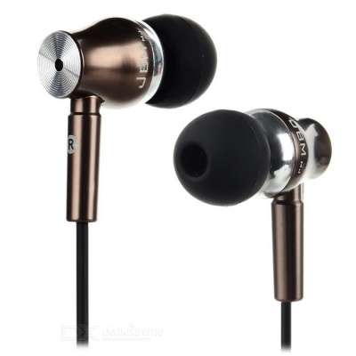 JBMMJ 3.5mm Plug In-Ear MP3 Earphone - Black + Coffee