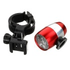 Waterproof 6-LED 2-Mode White Light Cycling Bike Light w/ Holder - Red