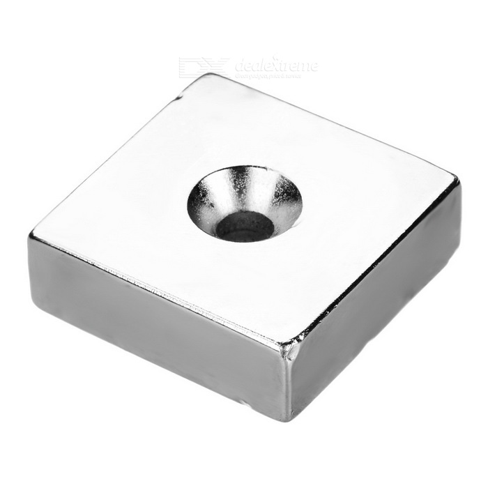 Single Hole Square Magnets 30*30*10mm - Silver