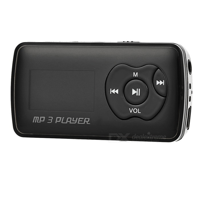 "1.1"" reproductor de mp3 OLED con mini USB / TF / 3.5mm - negro + plata"