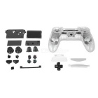 Protective ABS Case Whole Set for PS4 Wireless Game Controller - Transparent + Black