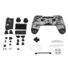 Protective ABS Case Whole Set for PS4 Wireless Game Controller - Grey Camouflage